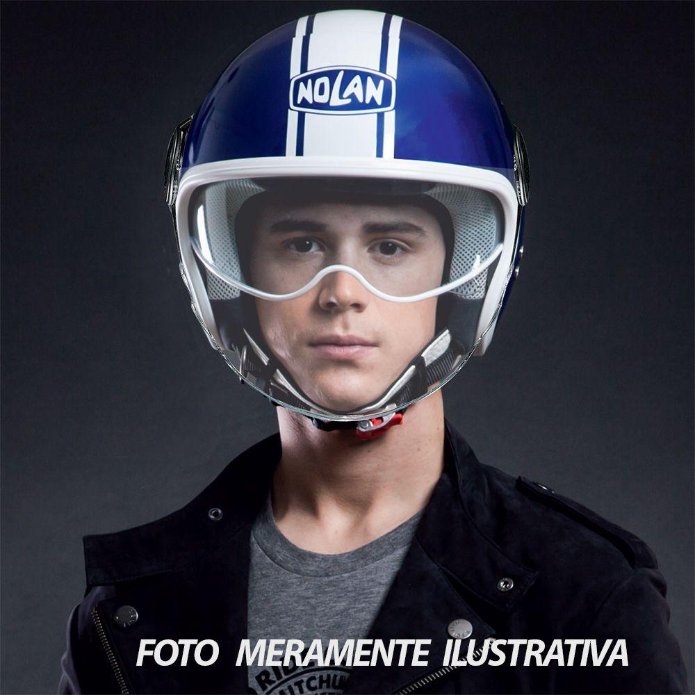 Capacete Nolan N21 Visor Duetto Azul (Com Óculos Interno) LANÇAMENTO 2018  - Planet Bike Shop Moto Acessórios