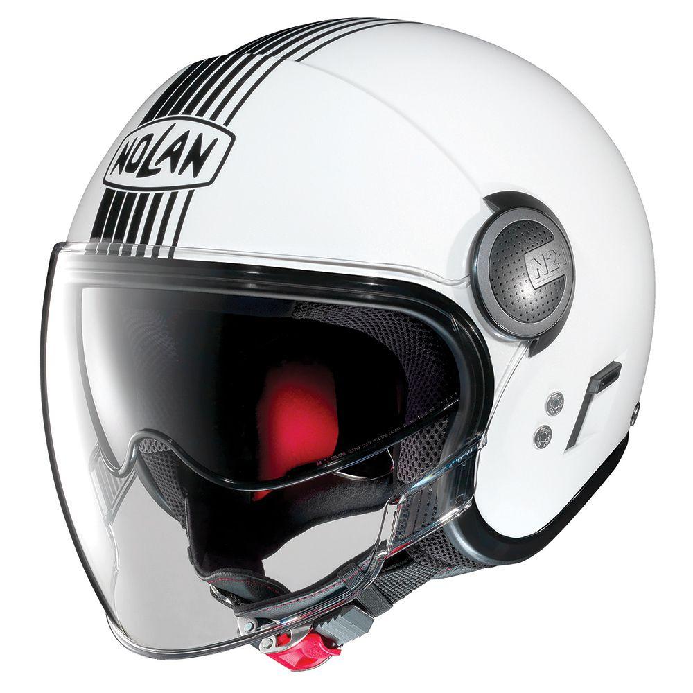 Capacete Nolan N21 Vivre White Metallic - Com Óculos Interno - SuperOferta - Blade  - Planet Bike Shop Moto Acessórios