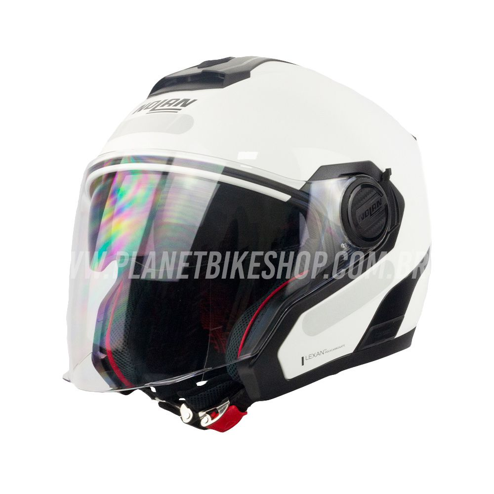 Capacete Nolan N40-5 Special N-com Branco (15)   - Planet Bike Shop Moto Acessórios