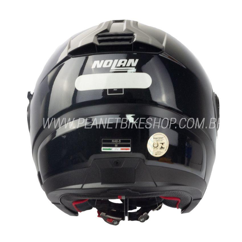 Capacete Nolan N40-5 Special N-com Preto Brilho (12)  - Planet Bike Shop Moto Acessórios
