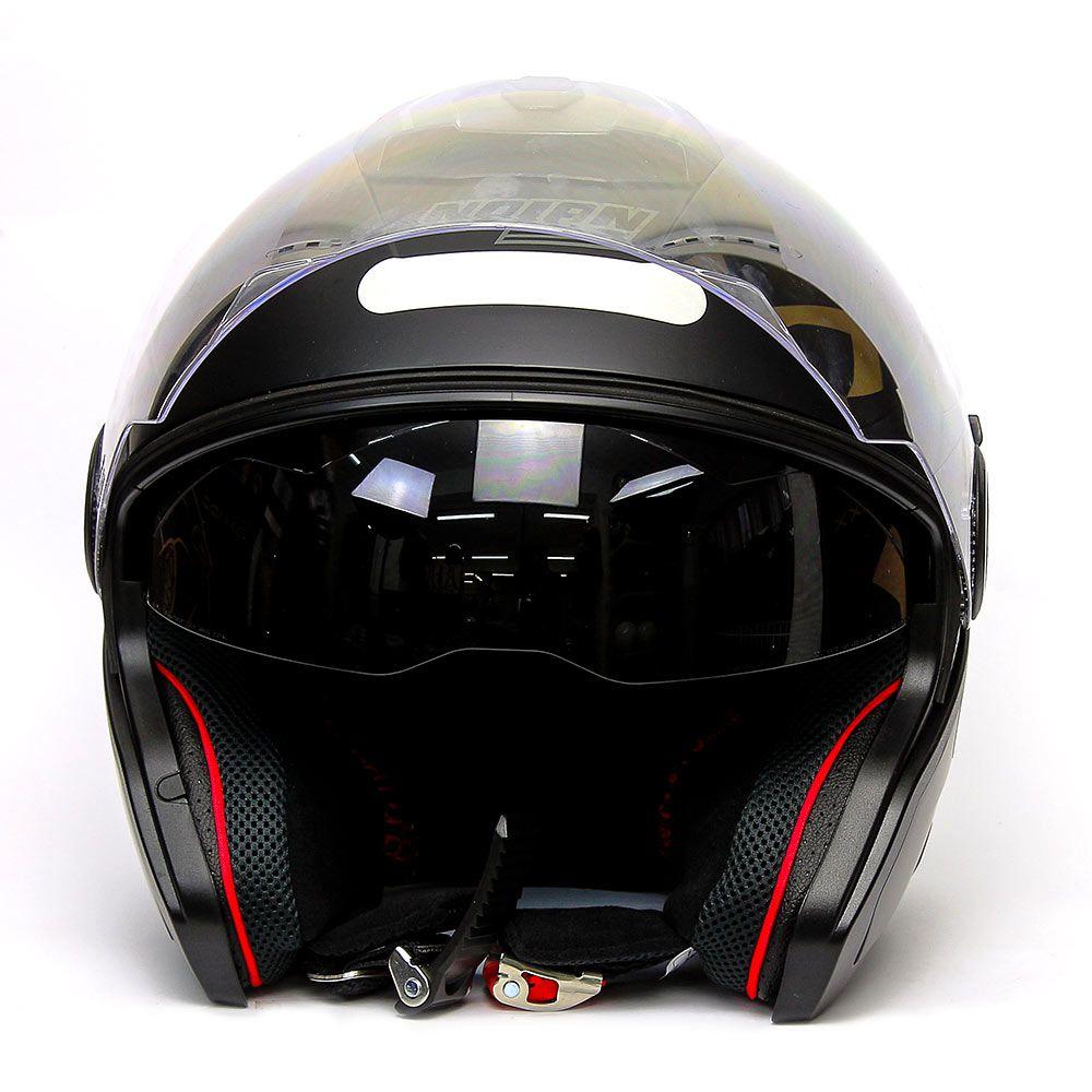 Capacete Nolan N40-5 Special N-com Preto Fosco (13)  - Planet Bike Shop Moto Acessórios