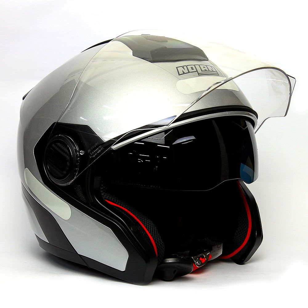 Capacete Nolan N40 Special N-com Prata (11)  - Planet Bike Shop Moto Acessórios