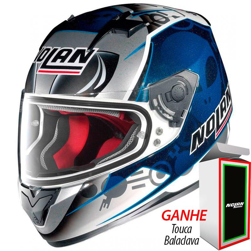 Capacete Nolan N64 Gemini Réplica Bastianini   - Planet Bike Shop Moto Acessórios