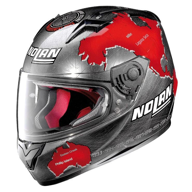 Capacete Nolan N64 Gemini Réplica C.Checca Scratched Chrome - Ganhe Balaclava Exclusiva!  - Planet Bike Shop Moto Acessórios