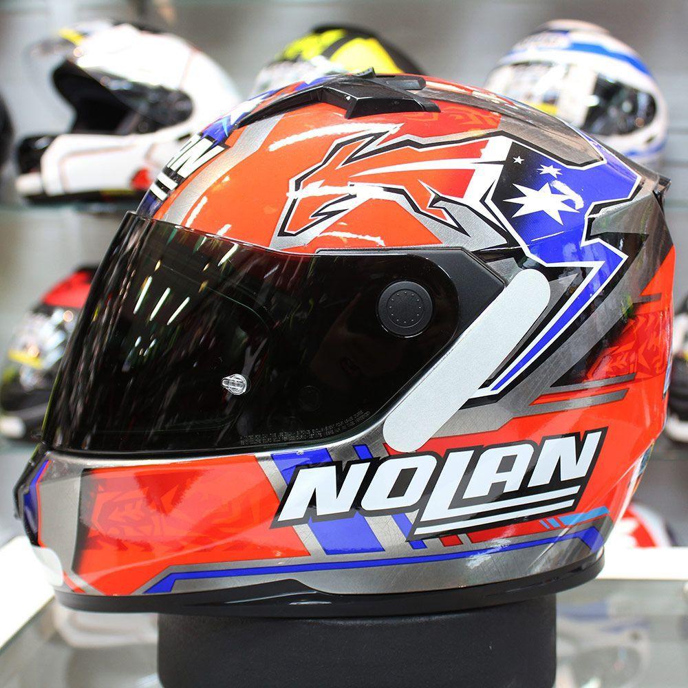 Capacete Nolan N64 Gemini Réplica Stoner Suzuka Scratched Chrome   - Planet Bike Shop Moto Acessórios