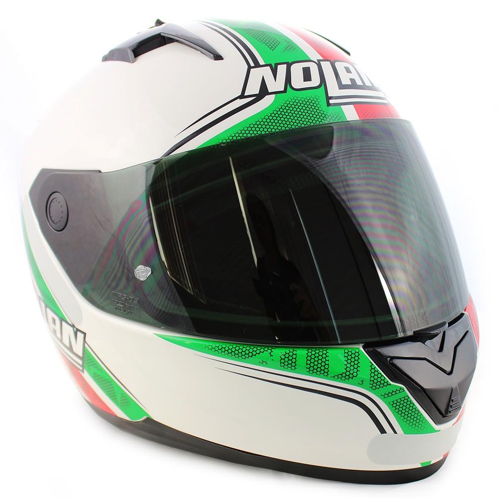 0 Capacete Nolan N64 Italy Metal White - Ganhe Balaclava Exclusiva!  - Planet Bike Shop Moto Acessórios