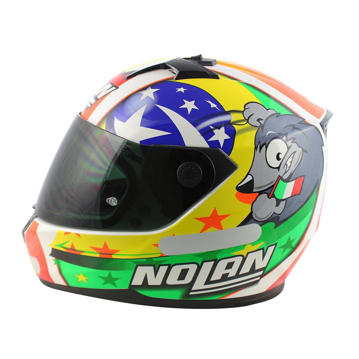 Capacete Nolan N64 Réplica Melandri Misano Cor: 65 - Ganhe Balaclava - Mês do Motociclista
