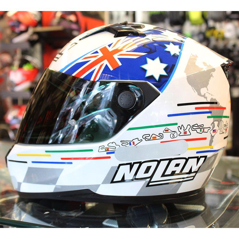 Capacete Nolan N64 Réplica Stoner Tribute Cor: 46 - Ganhe Balaclava Exclusiva!  - Planet Bike Shop Moto Acessórios