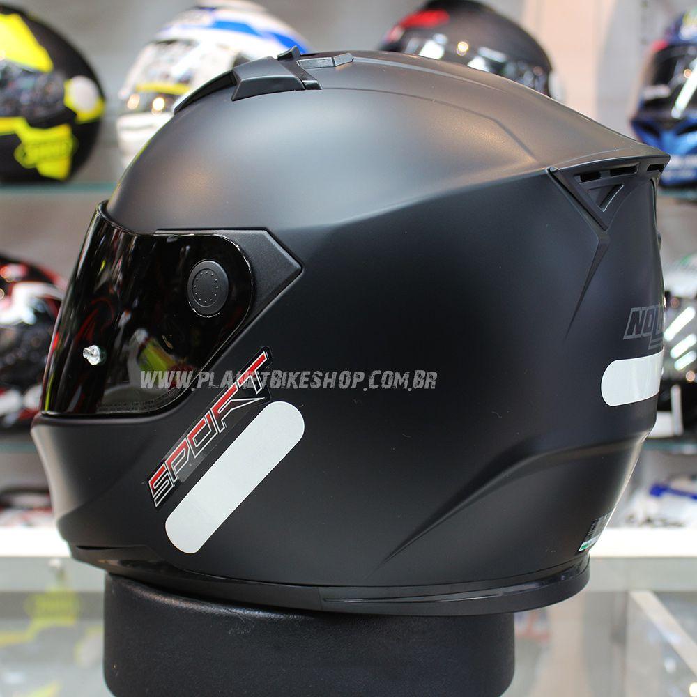 Capacete Nolan N64 Sport Flat Black SuperOferta  - Planet Bike Shop Moto Acessórios