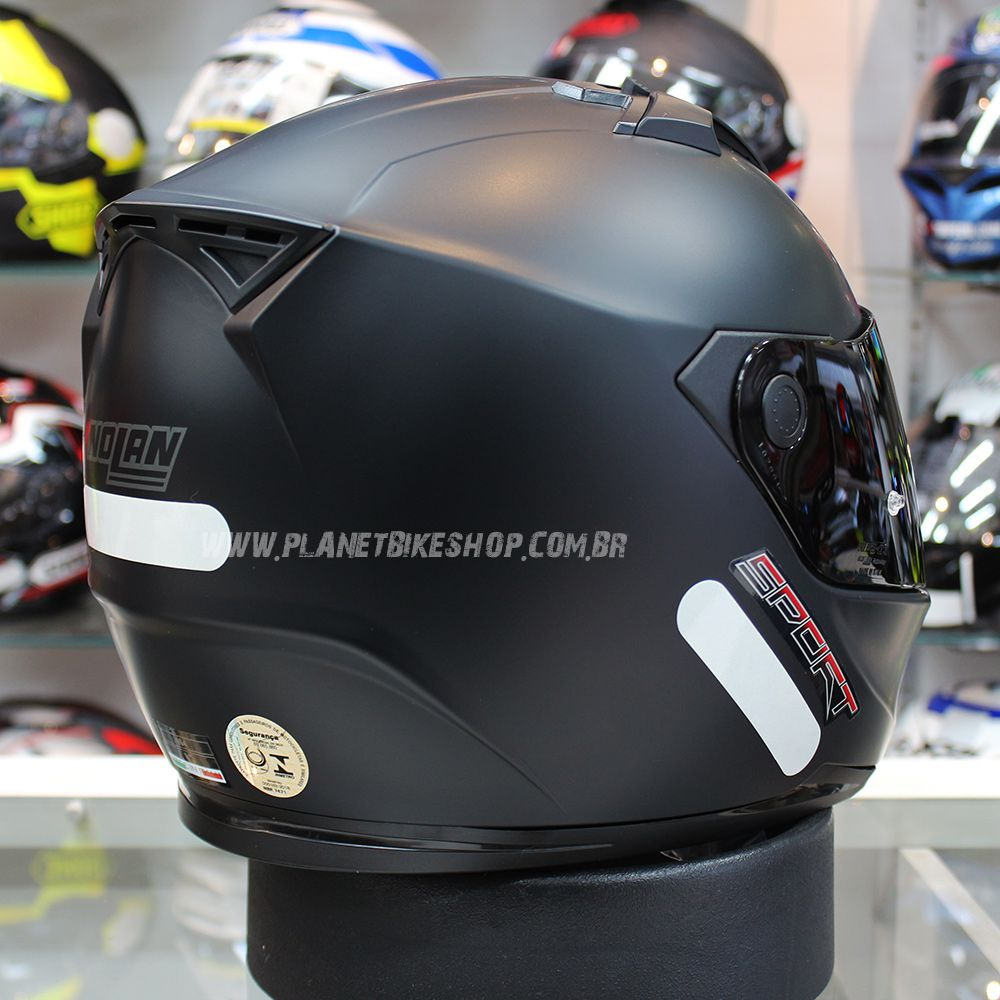 Capacete Nolan N64 Sport Flat Black - Blackfriday  - Planet Bike Shop Moto Acessórios