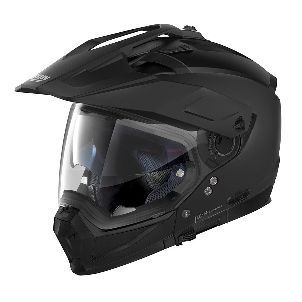 Capacete Nolan N70-2x Classic Preto Fosco (10) Off-Road / Remove Queixeira  - Planet Bike Shop Moto Acessórios