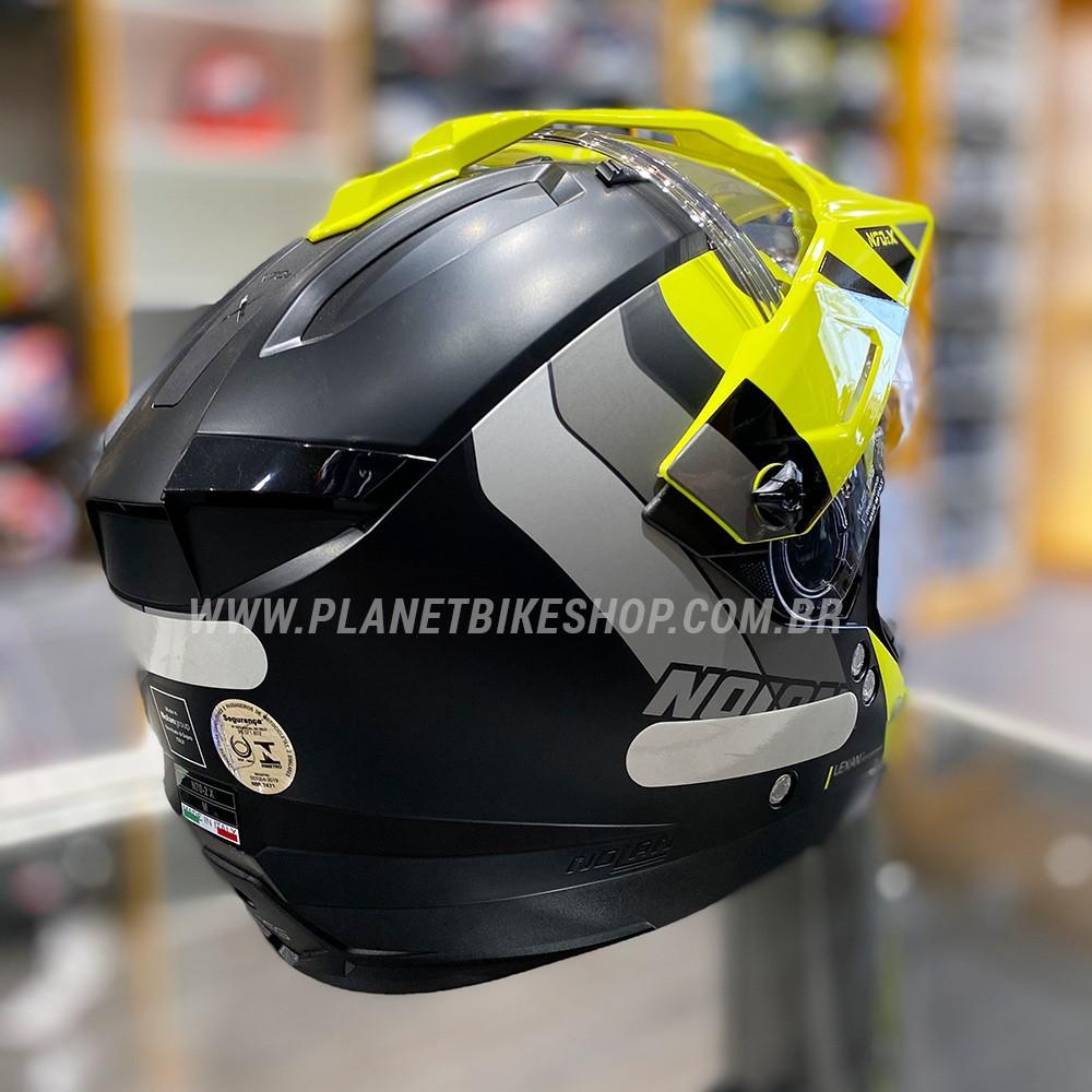 Capacete Nolan N70-2x Decurio Preto/Amarelo Off-Road / Remove Queixeira  - Planet Bike Shop Moto Acessórios