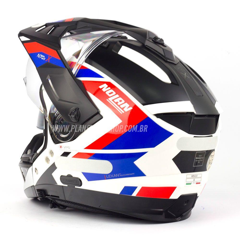 Capacete Nolan N70-2x Grandes Alpes - Tricolor  - Planet Bike Shop Moto Acessórios