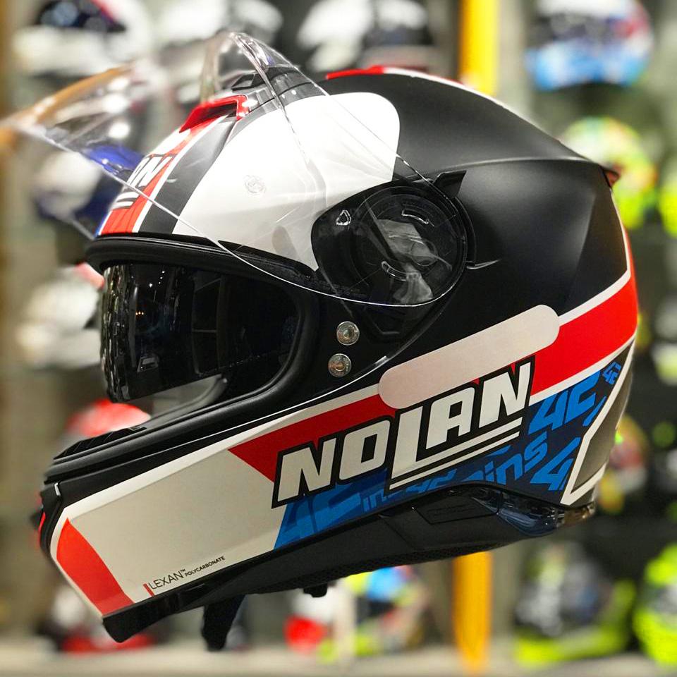 Capacete Nolan N87 Alex Rins (Réplica Oficial Piloto Suzuki) 95 C/ Viseira Solar - Ganhe Touca Balaclava  - Planet Bike Shop Moto Acessórios