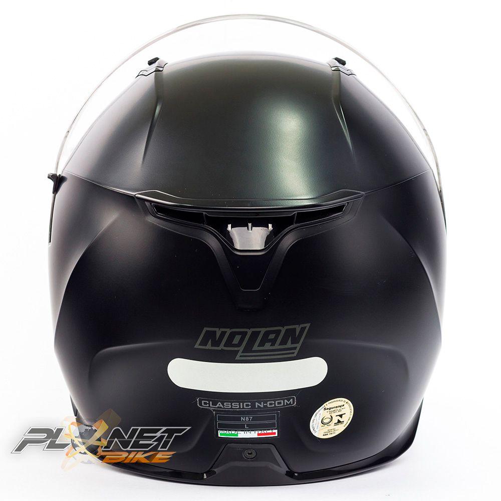CAPACETE NOLAN N87 CLASSIC FLAT BLACK (10) Ganhe Balaclava Exclusiva!  - Planet Bike Shop Moto Acessórios