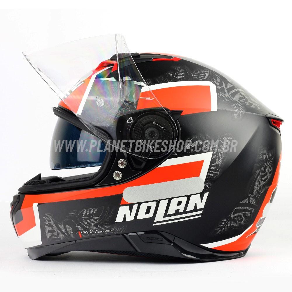 Capacete Nolan N87 Danilo Petrucci - Cinza/Vermelho/Branco - C/ Viseira Solar (Ganhe Pinlock + Touca Balaclava)  - Planet Bike Shop Moto Acessórios