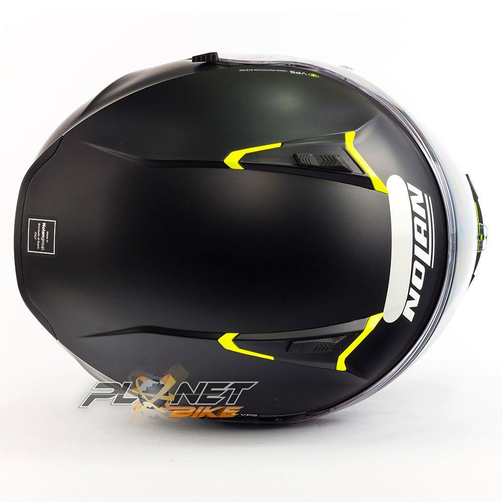 Capacete Nolan N87 Emblema Amarelo Fosco (72) C/ Viseira Solar (Ganhe Pinlock + Touca Balaclava)  - Planet Bike Shop Moto Acessórios