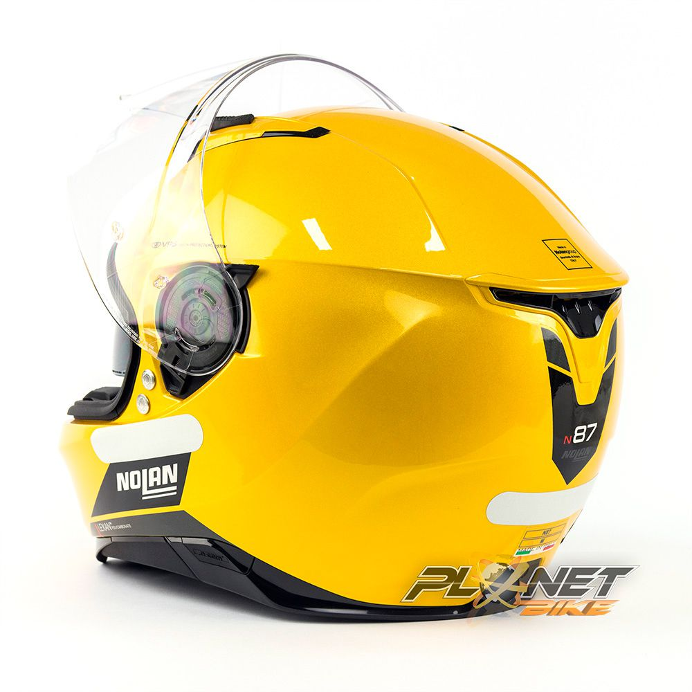 Capacete Nolan N87 Emblema Dourado (76) C/ Viseira Solar (Ganhe Pinlock + Touca Balaclava)  - Planet Bike Shop Moto Acessórios