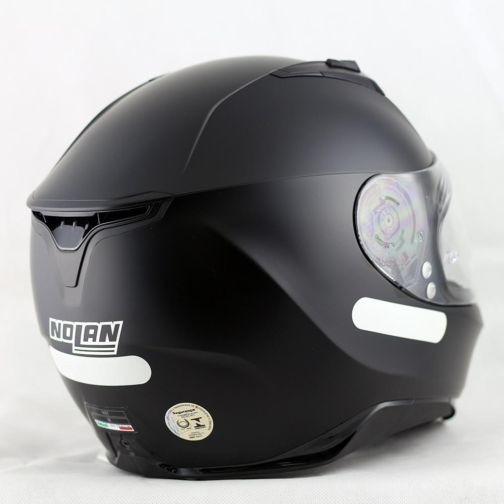 Capacete Nolan N87 Martz Flat Black (preto e branco) - Ganhe Balaclava Exclusiva!  - Planet Bike Shop Moto Acessórios