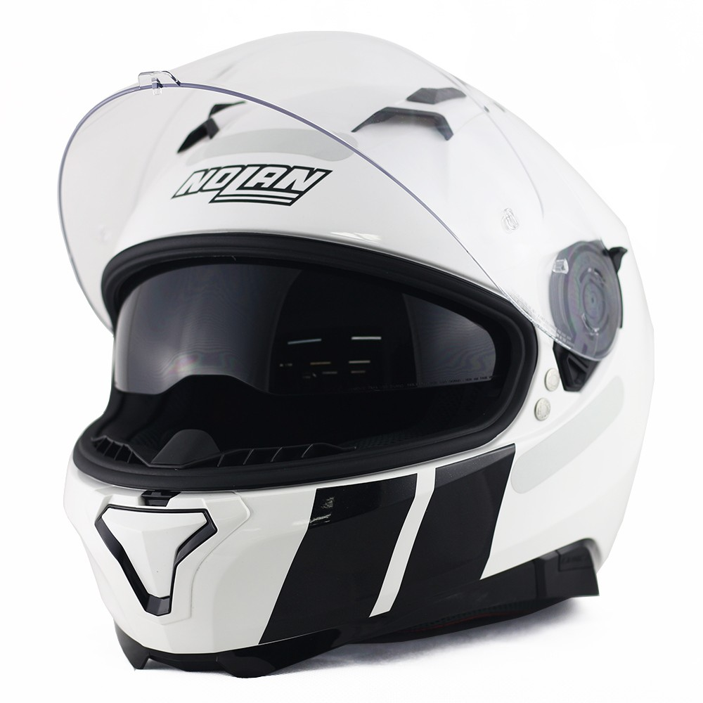 CAPACETE NOLAN N87 MARTZ METAL WHITE - Ganhe Balaclava Exclusiva!  - Planet Bike Shop Moto Acessórios