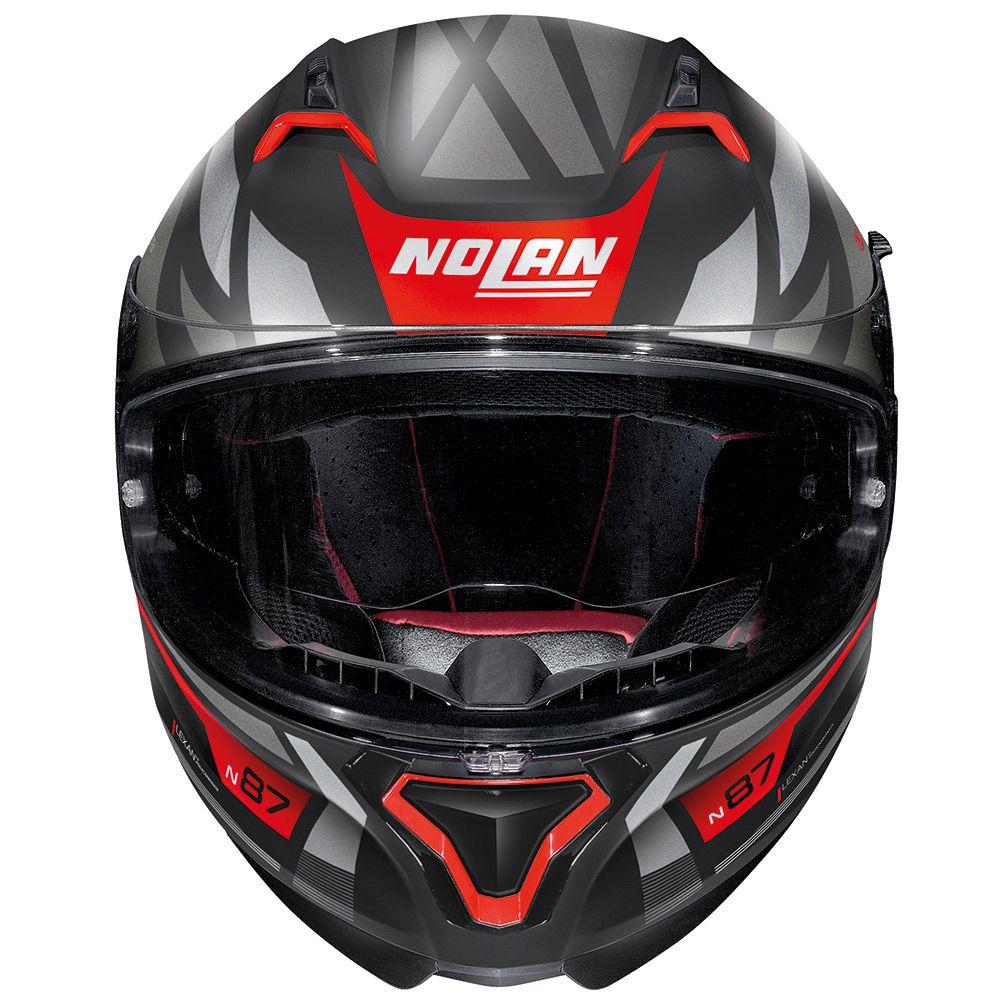 Capacete Nolan N87 Originality Vermelho Fosco (69) C/ Viseira Solar (Ganhe Pinlock + Touca Balaclava)  - Planet Bike Shop Moto Acessórios