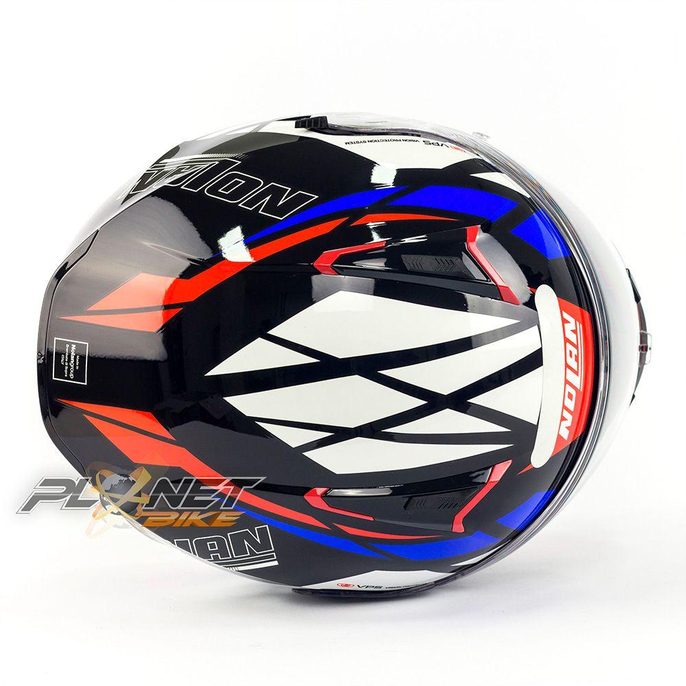 Capacete Nolan N87 Originality Tricolor (64) C/ Viseira Solar (Ganhe Pinlock + Touca Balaclava)  - Planet Bike Shop Moto Acessórios