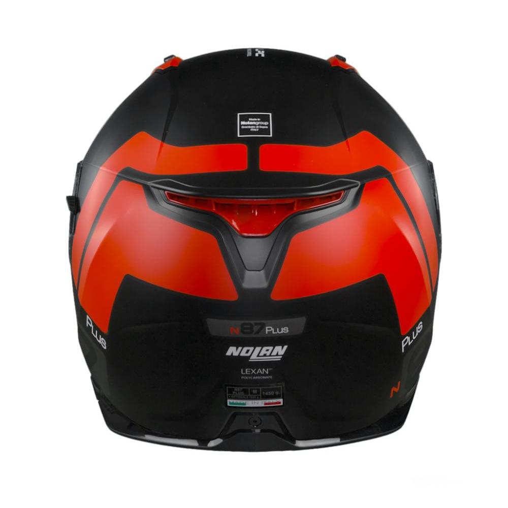 Capacete Nolan N87 Plus Distinctive - Preto/Vermelho - C/ Viseira Solar (Ganhe Pinlock + Touca Balaclava)  - Planet Bike Shop Moto Acessórios