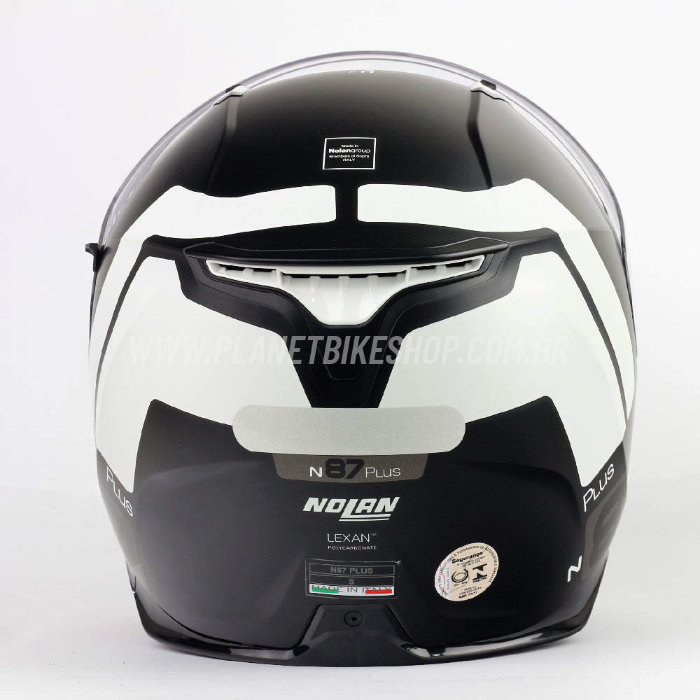 Capacete Nolan N87 Plus Distinctive Preto/Cinza - C/ Viseira Solar (Ganhe Pinlock + Touca Balaclava)  - Planet Bike Shop Moto Acessórios