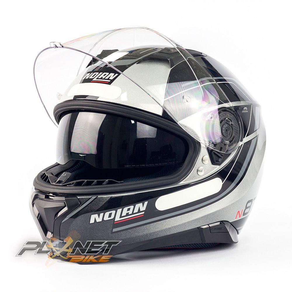 Capacete Nolan N87 Savoir Faire Antracite (59) C/ Viseira Solar (Ganhe Pinlock + Touca Balaclava)  - Planet Bike Shop Moto Acessórios