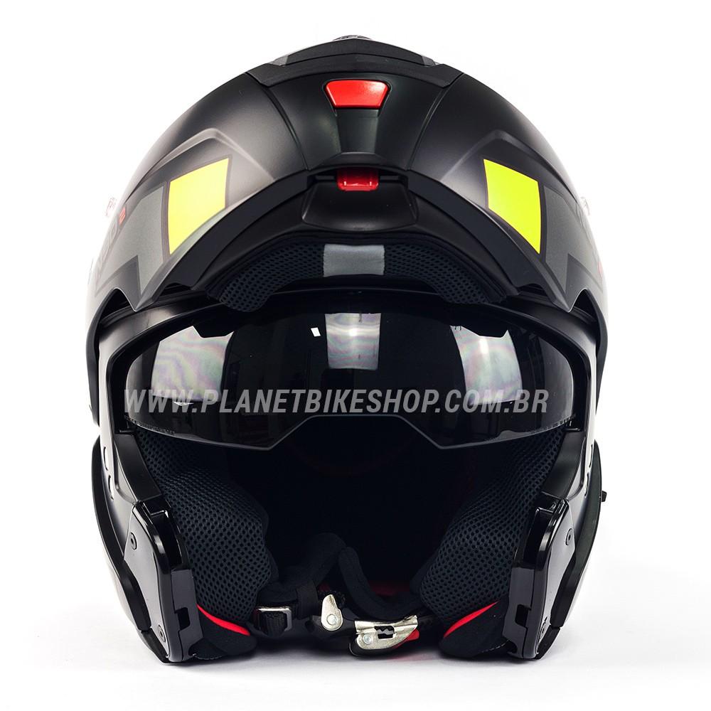 Capacete Nolan N90-2 Euclid Amarelo Fosco (27) - Escamoteável C/ Viseira Solar Interna (GANHE BALACLAVA NOLAN)  - Planet Bike Shop Moto Acessórios