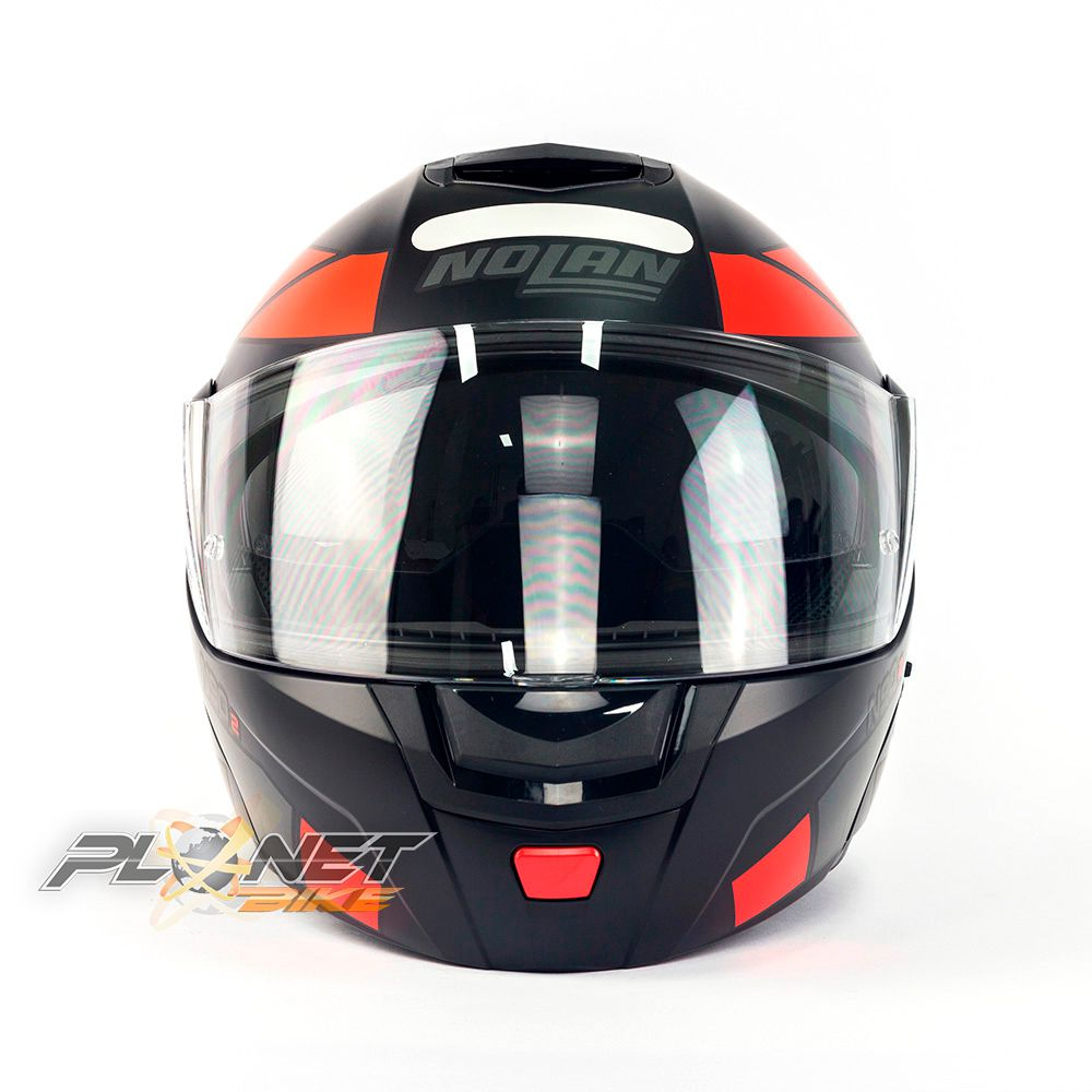 Capacete Nolan N90-2 Euclid Vermelho Fosco (25) - Escamoteável C/ Viseira Solar Interna (GANHE BALACLAVA NOLAN)  - Planet Bike Shop Moto Acessórios