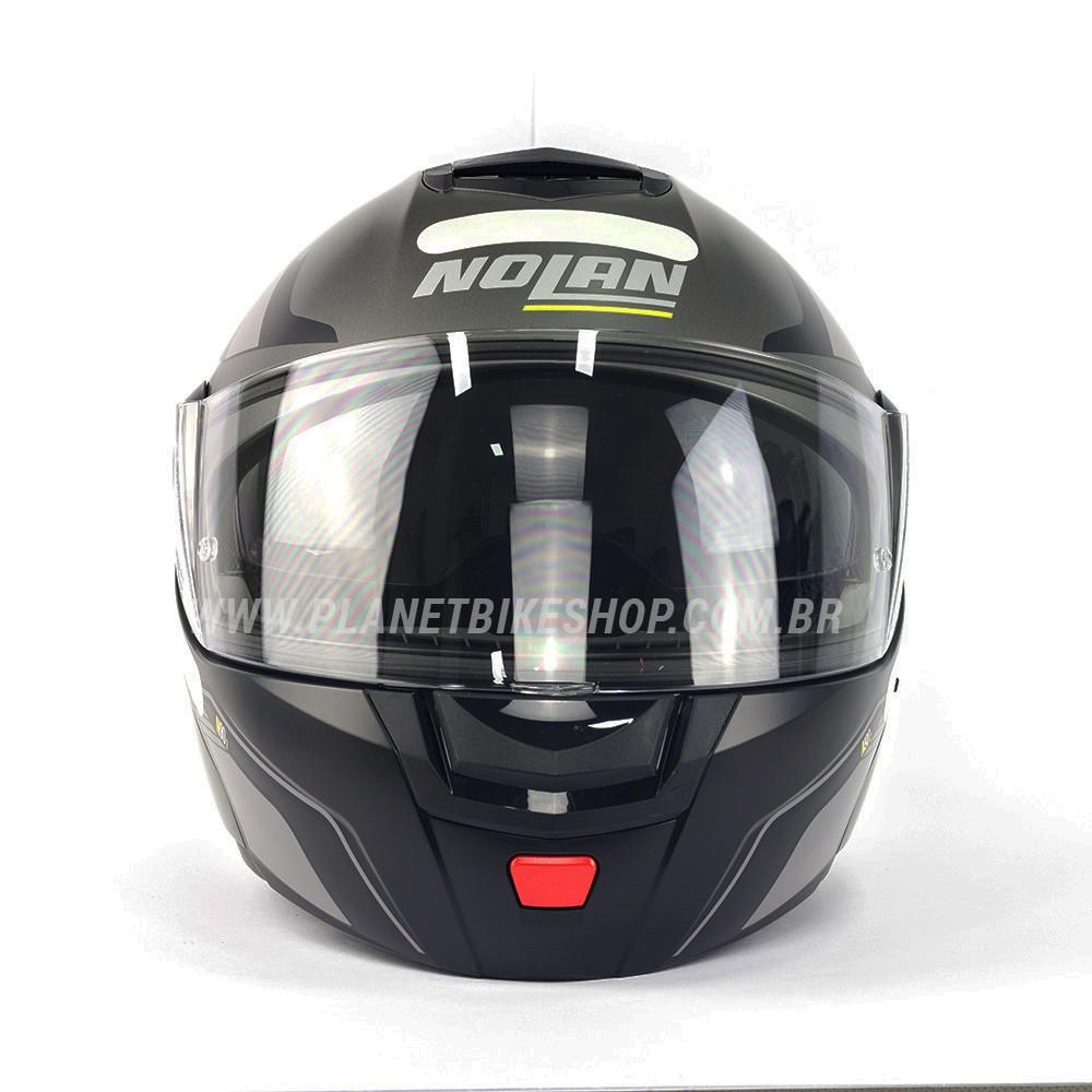 Capacete Nolan N90-2 Straton - Cinza - Escamoteável C/ Viseira Solar Interna (GANHE BALACLAVA E BRINDE)  - Planet Bike Shop Moto Acessórios