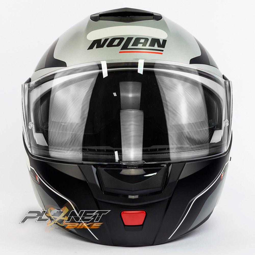 Capacete Nolan N90-2 Straton - Prata - Escamoteável C/ Viseira Solar Interna  - Planet Bike Shop Moto Acessórios