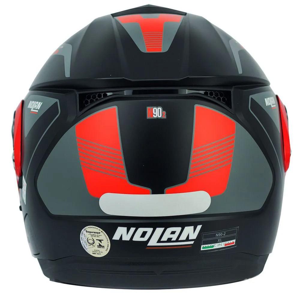 Capacete Nolan N90-2 Straton Preto/Vermelho - Escamoteável C/ Viseira Solar Interna (GANHE BALACLAVA DE BRINDE)  - Planet Bike Shop Moto Acessórios