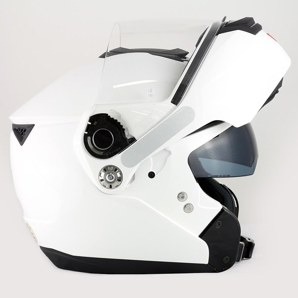 Capacete Nolan N90 Classic Branco Escamoteável Com Óculos Interno (Acompanha Pinlock)