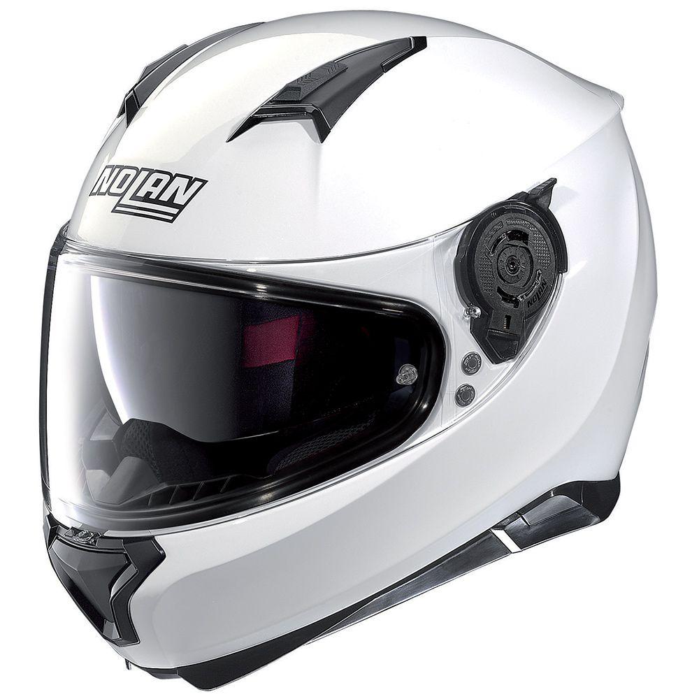 Capacete Nolan N90 Special Branco Escamoteável Com Óculos Interno (Acompanha Pinlock)