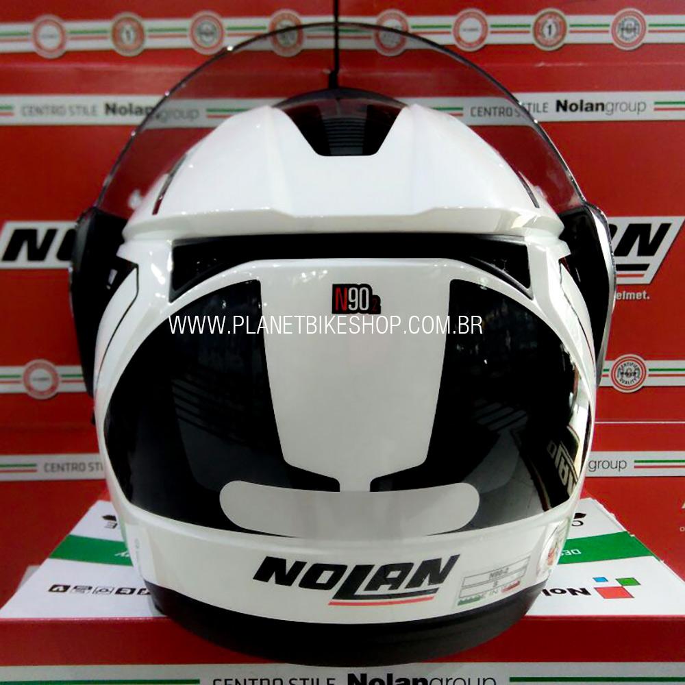 Capacete Nolan N90 Straton Branco Escamoteável Com Óculos Interno - (Acompanha Pinlock)  - Planet Bike Shop Moto Acessórios