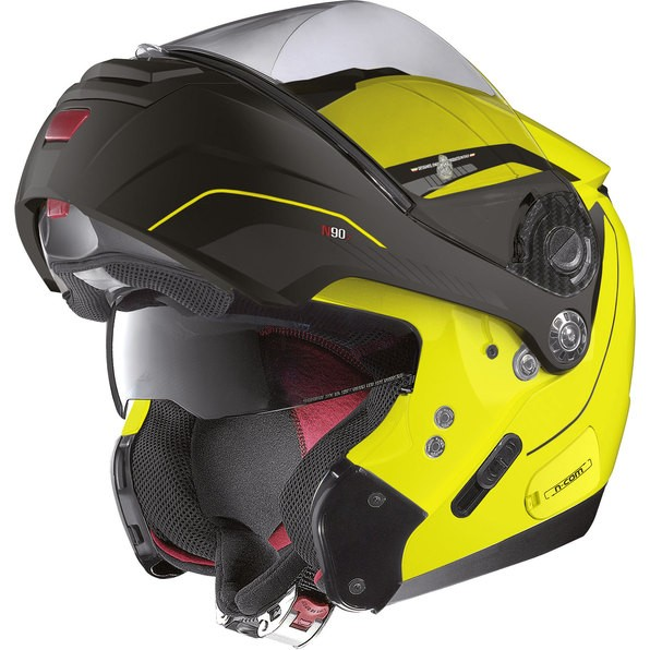 Capacete Nolan N90 Straton Amarelo Escamoteável Com Óculos Interno (Acompanha Pinlock)