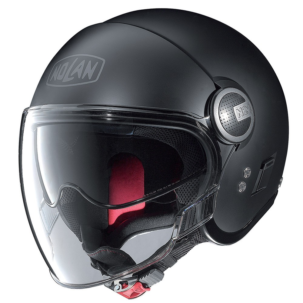 Capacete Nolan Visor N21 Flat Black Cor 10 (Com Óculos interno)