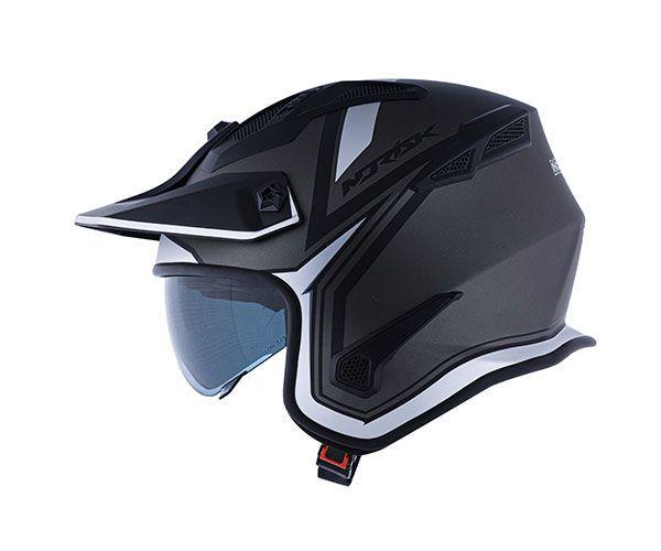 Capacete Norisk Darth Titanium Fosco/ Prata - 4 em 1   - Planet Bike Shop Moto Acessórios