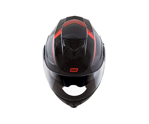 Capacete Norisk FF345 Route Motion Black/Orange (Articulado Com Viseira Solar Interna)  - Planet Bike Shop Moto Acessórios