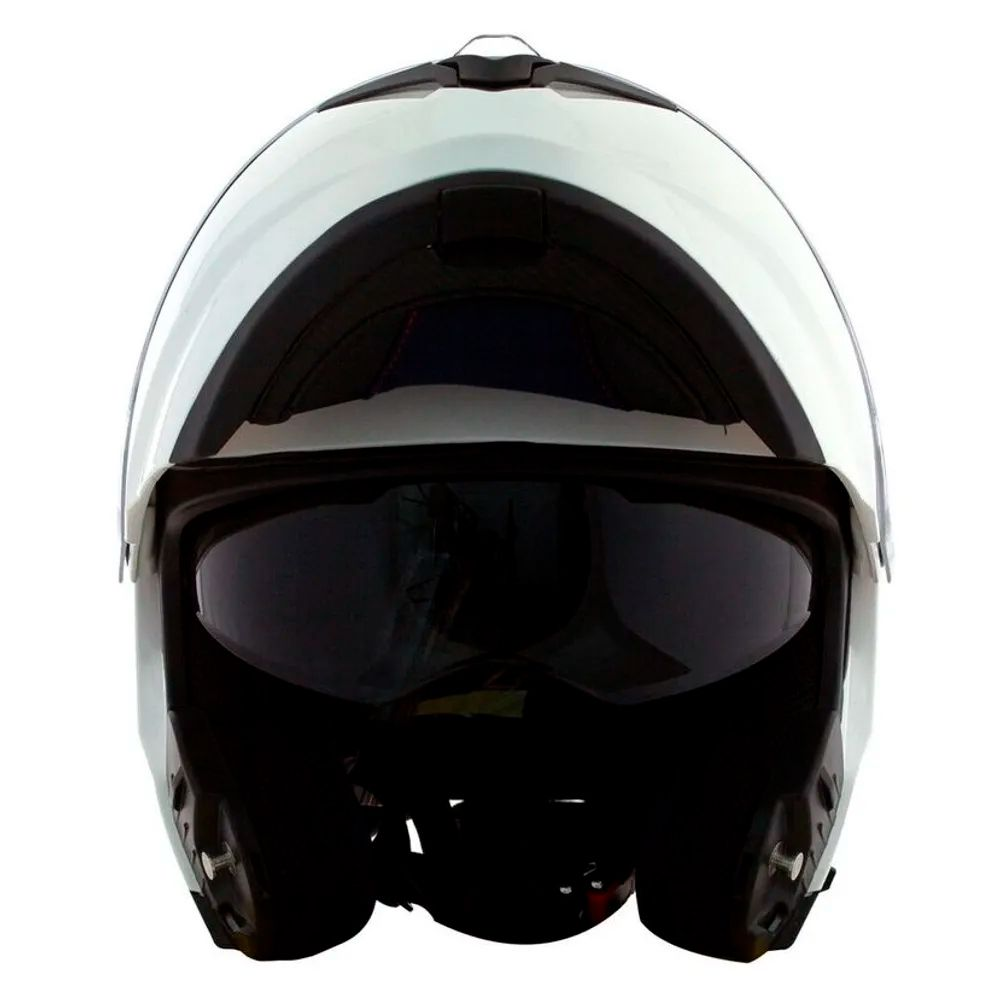 Capacete Norisk Force FF345 Branco Articulado  - Planet Bike Shop Moto Acessórios