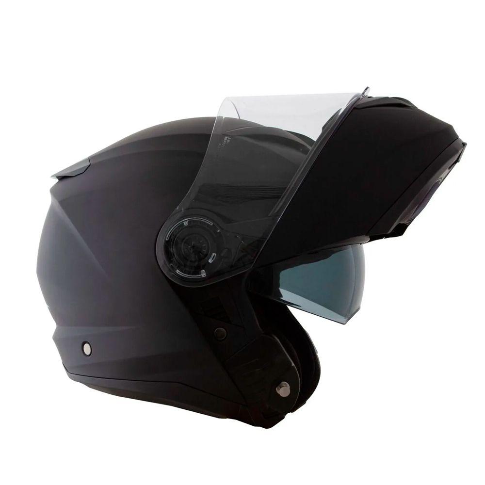 Capacete Norisk Force Preto Fosco   - Planet Bike Shop Moto Acessórios