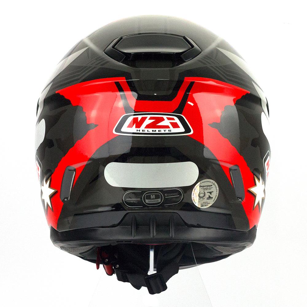 Capacete NZI Fusion Mick Antracite/Preto/Vermelho - Ofertaço  - Planet Bike Shop Moto Acessórios