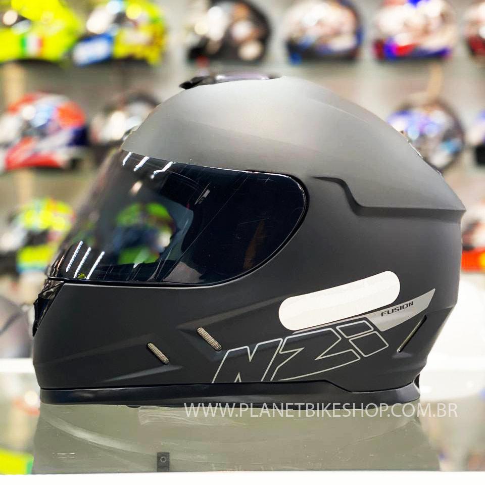 Capacete NZI Fusion Preto Fosco - Ofertaço  - Planet Bike Shop Moto Acessórios