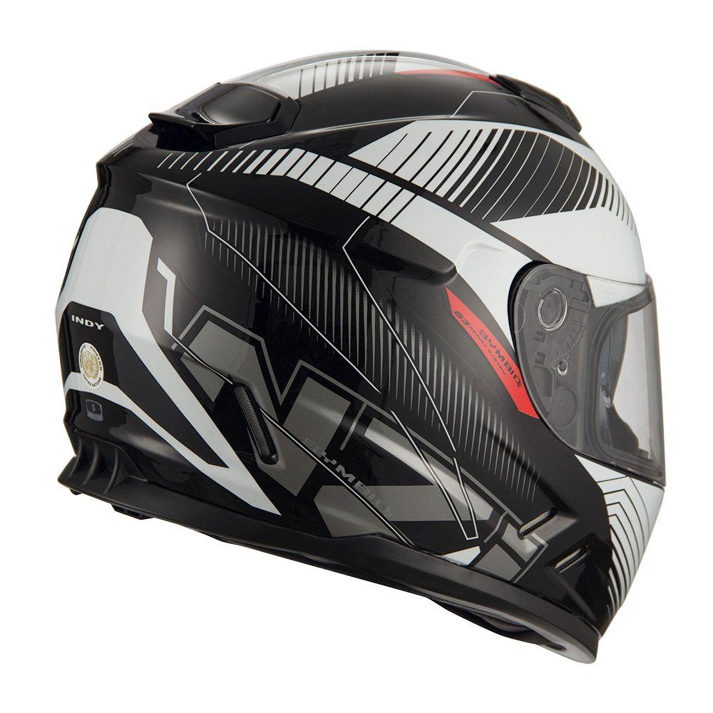 Capacete NZI Symbio 2 Indy - Preto/Branco  - Planet Bike Shop Moto Acessórios