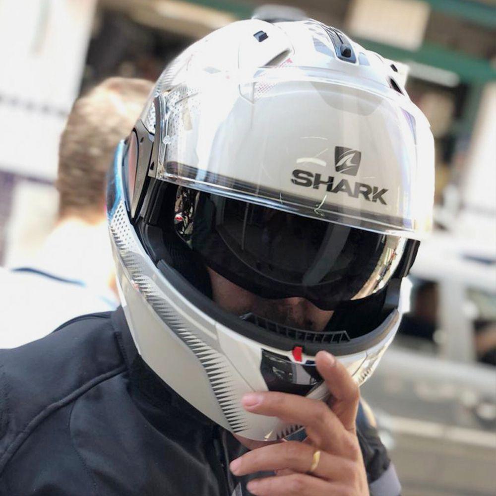 Capacete Shark Evo ONE V2 kEENSER WSR escamoteável  - Planet Bike Shop Moto Acessórios