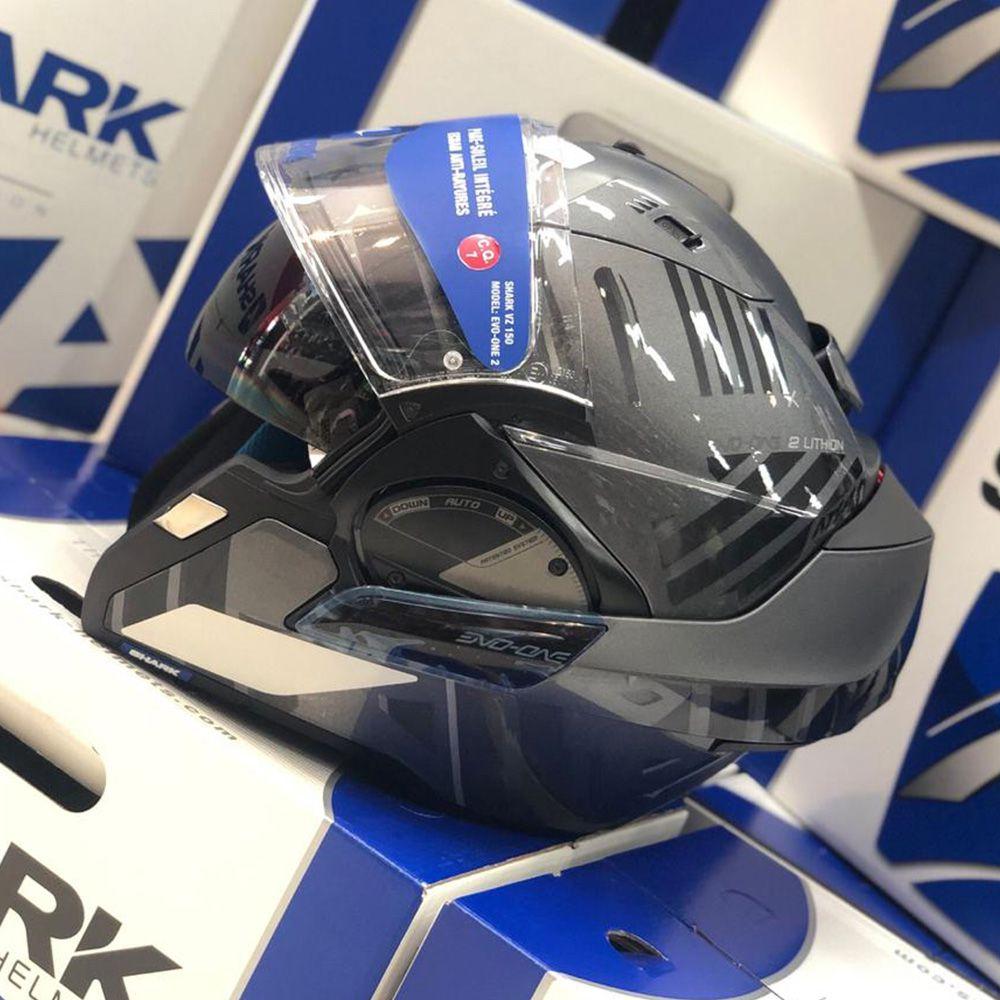 Capacete SHARK EVO ONE V2 LITHION AKA S escamoteável  - Planet Bike Shop Moto Acessórios