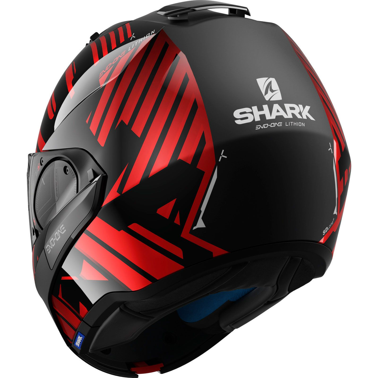 Capacete Shark Evo ONE V2 Lithion KUR Escamoteável  - Planet Bike Shop Moto Acessórios