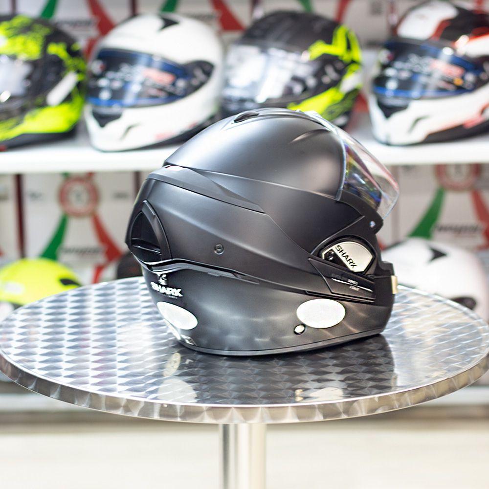 Capacete Shark Evoline 3 Preto FUSION MATT KMA escamoteável  - Planet Bike Shop Moto Acessórios